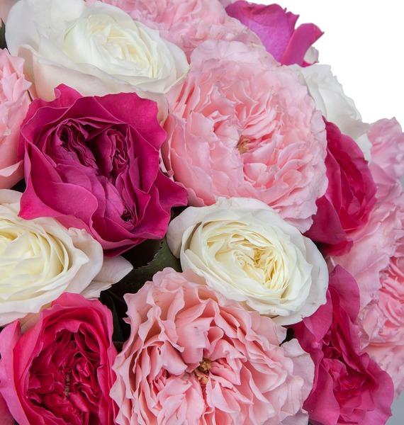 Букет из пионовидных роз Феерия (15, 25 или 51) – фото № 3