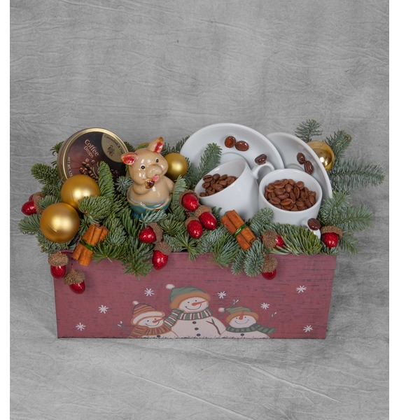 Подарочная коробка Зимний кофе коробка подарочная совы на белом 19 12 5 8см картон kairui 13 kairui hz 907m