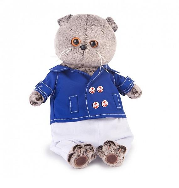 Мягкая игрушка Басик в синем кителе игрушка