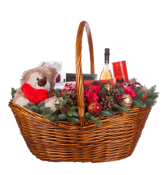 Подарочная корзина Зимняя Love Story (Игристое вино в подарок) – фото № 4