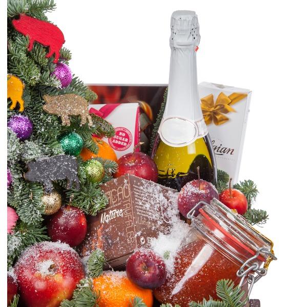 Подарочное кашпо Праздник души (Игристое вино в подарок) – фото № 2