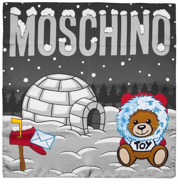 Шелковый платок MOSCHINO Зима – фото № 1