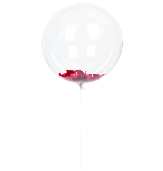 Эксклюзивный воздушный шар с лепестками роз – фото № 1