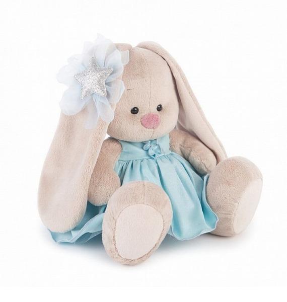 """Мягкая игрушка """"Зайка Ми в голубом платье со звездой"""" sima land мягкая игрушка зайка гаврош 30 см"""