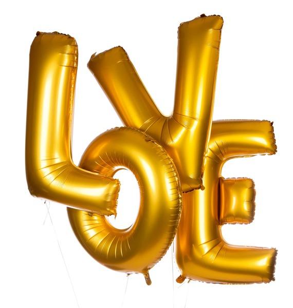 Надпись из шаров LOVE композиция из шаров подарок