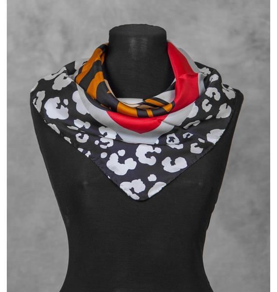 Шелковый платок MOSCHINO (Италия, 70х70 см) – фото № 1