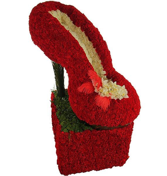 Цветочная туфелька (160 см) подставка для колец туфелька 14 5 13см уп 1 32шт