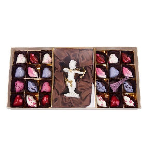 Конфеты ручной работы из бельгийского шоколада Аметист ангел – фото № 2