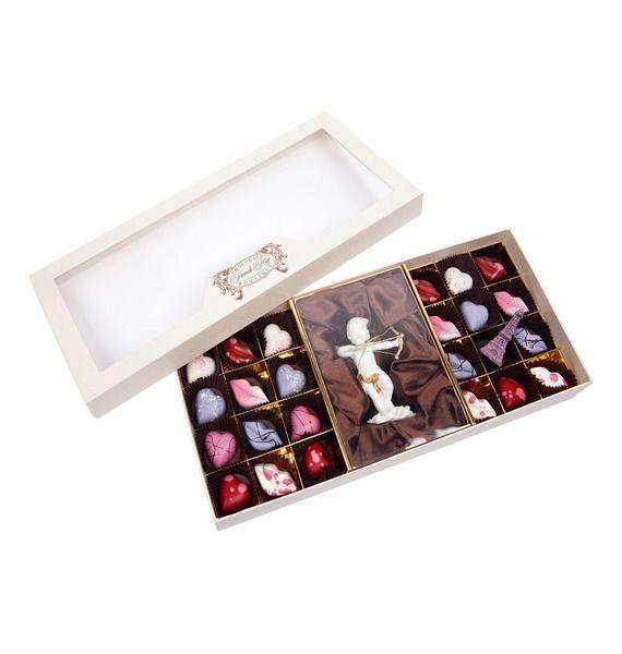 Конфеты ручной работы из бельгийского шоколада Аметист ангел – фото № 1