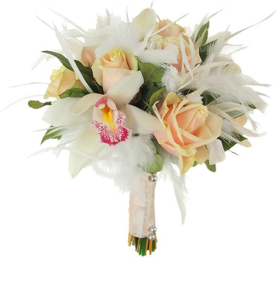 Букет невесты Лебединая верность – фото № 4