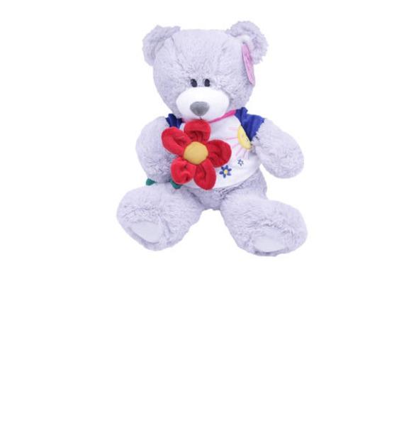 """Мягкая игрушка """"Мишка в футболке с цветком"""" (31 см)"""