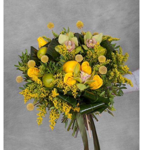 Букет Лимонадный микс растение папоротниковый микс д 12