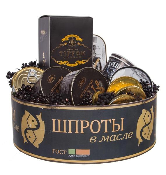 Подарочная коробка Шпроты (Коньяк в подарок) – фото № 2