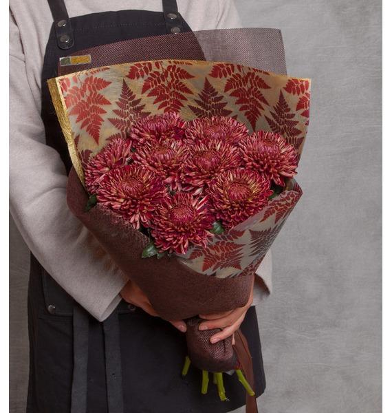 "все цены на Букет хризантем ""Цветок папоротника"" (5, 9 или 15) онлайн"