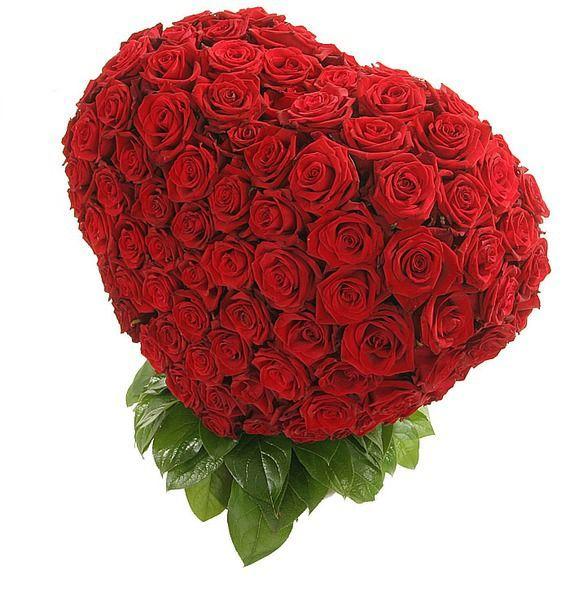 Композиция из 201 розы Мишень Купидона – фото № 4