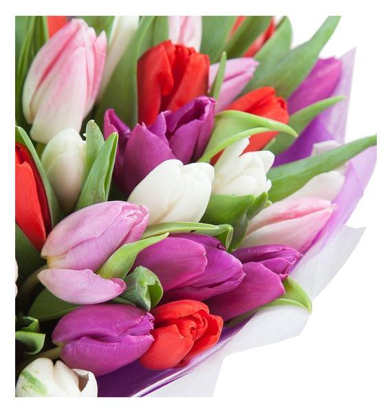Букет Любимой маме (25 или 51 тюльпан) – фото № 2