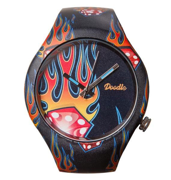 Часы Doodle Пламя