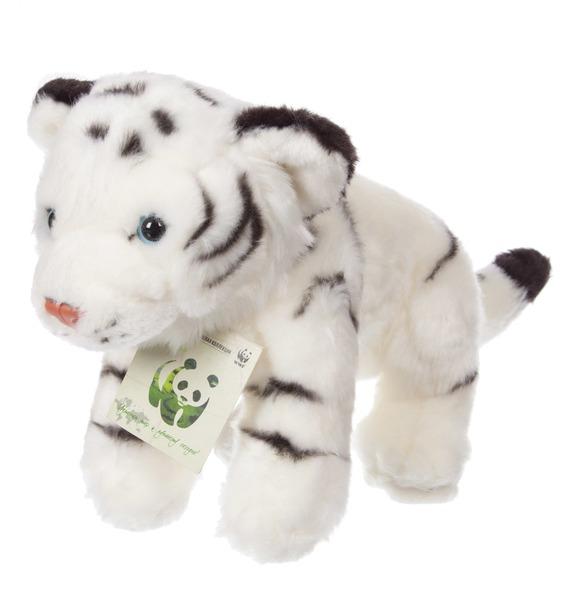 """Мягкая игрушка """"Белый тигр WWF"""" (25 см) игрушка заводная прыгающие питомцы тигр"""