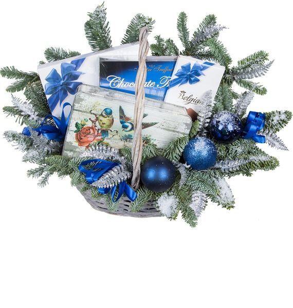 Подарочная корзина «Зимняя ночь» подарочная корзина чайная с заварочной кружкой