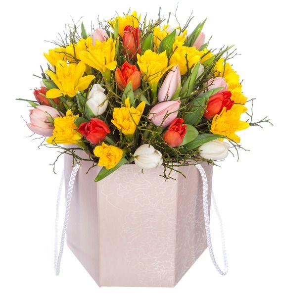 Композиция в вазе Улыбка весны – фото № 1