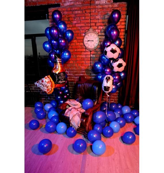 Оформление шарами Для настоящего мужчины! – фото № 2