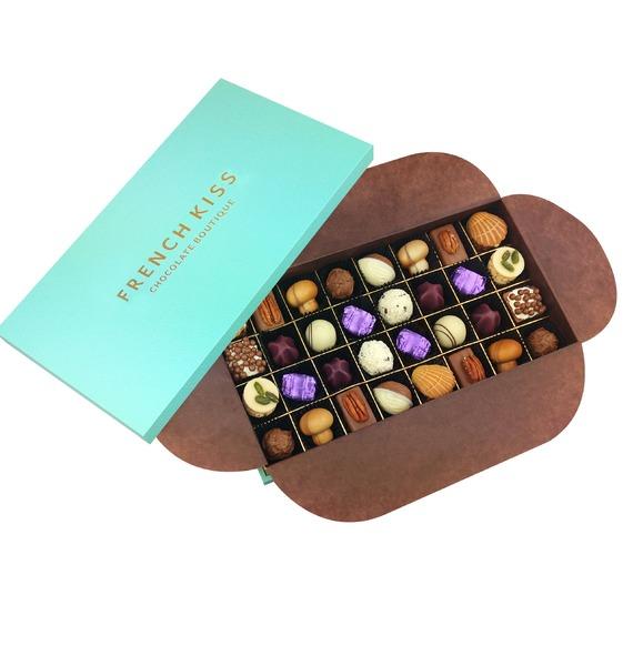 Конфеты ручной работы из бельгийского шоколада Милон-ла-Шапель merci набор конфет ассорти из шоколада с миндалем 250 г