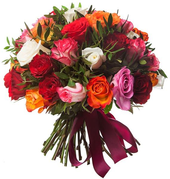 Букет Радуга (51 или 101 роза) – фото № 2