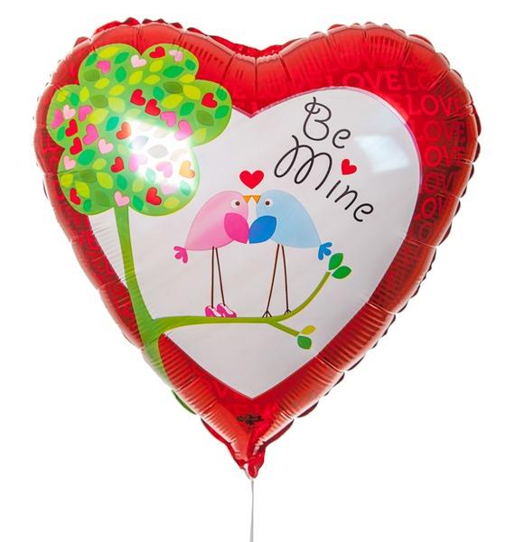 Воздушный шар Влюбленные птички (45 см) цена