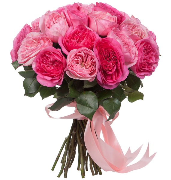 Bouquet of pion-shaped roses For the most beautiful! – photo #2