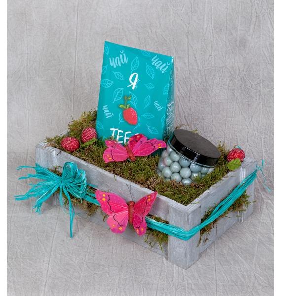 Подарочное кашпо Сладкий чай подарочное кашпо зимний подарок