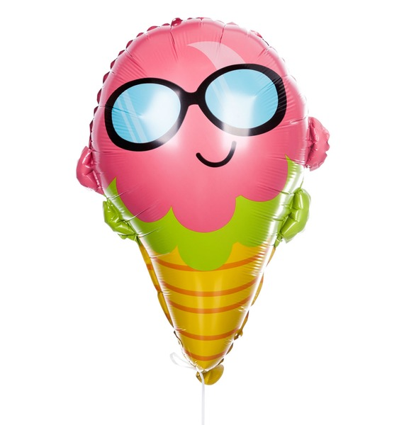 Воздушный шар Мороженое в очках (58см) подвеска воздушный шар 12см стекло в асс те