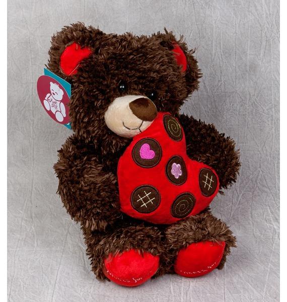 Мягкая игрушка Мишка с сердцем (31 см) ebulobo игрушка мягкая пирамидка мишка