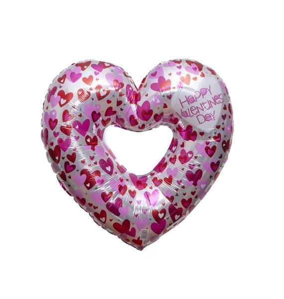 Фото - Воздушный шар Любовное сердце (55 см) шарик воздушный сердце цвет вишневый 50 шт