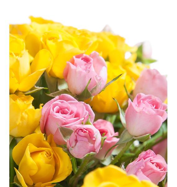 Bouquet of bush roses Paints – photo #4