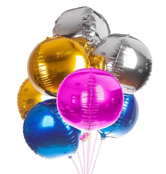 Букет шаров Разноцветные сферы (7 или 15 шаров) – фото № 1
