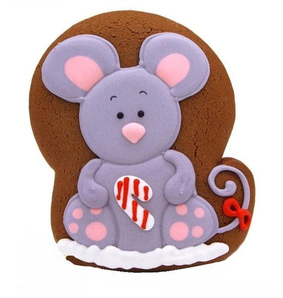 Имбирный пряник Мышка сидячая