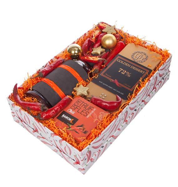 Подарочная коробка Very hot (Коньяк в подарок) – фото № 5