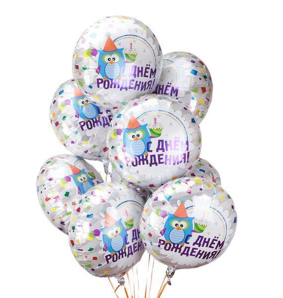 """Букет шаров """"С Днем Рождения"""" (9 или 18 шаров) цены онлайн"""