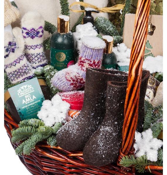 Подарочная корзина Зимняя забава (Игристое вино в подарок) – фото № 3