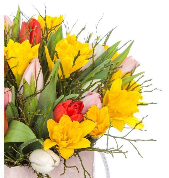 Композиция в вазе Улыбка весны – фото № 3