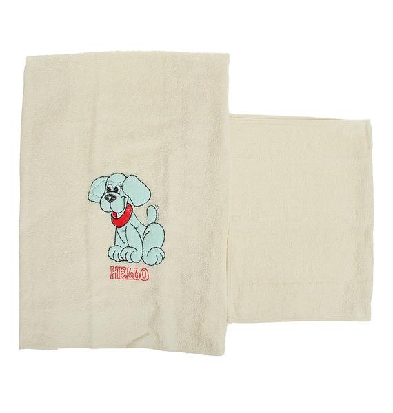 Комплект детских полотенец Голубой щенок – фото № 3
