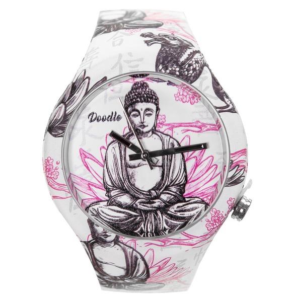 Часы Doodle Будда часы doodle белый череп