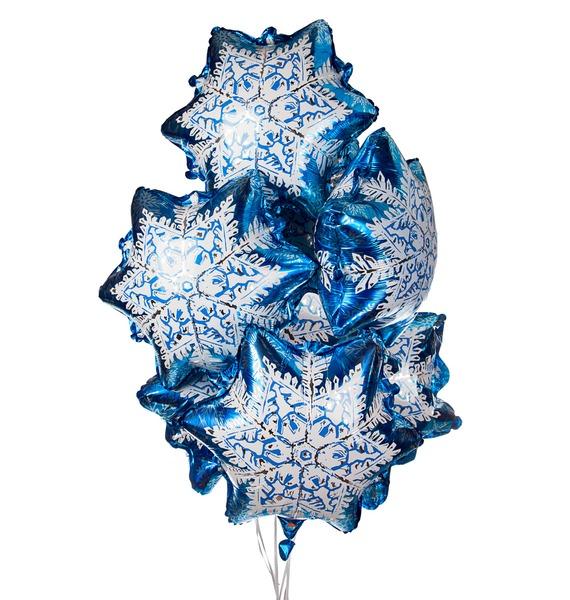 Букет шаров Снежинки (7 или 15 шаров) композиция из шаров букет