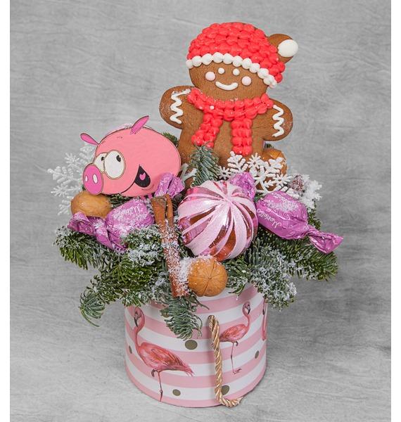 Композиция Новогодний подарок композиция сладкий подарок