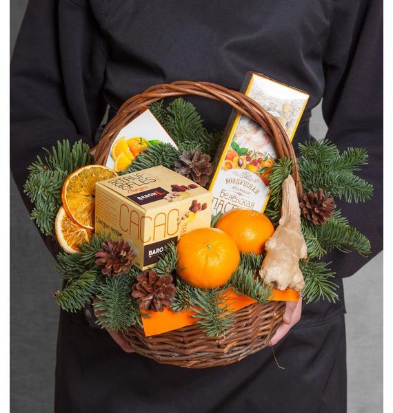 """Подарочная корзина """"Мандаринки"""" майка борцовка print bar мандаринки"""