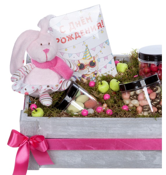 Подарочное кашпо С Днем Рождения – фото № 3