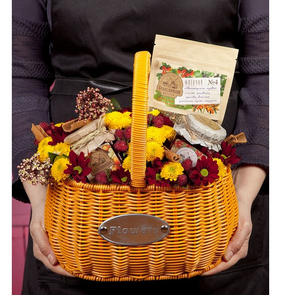 Подарочная корзина Ароматные ягодки подарочная коробка ароматные пионы