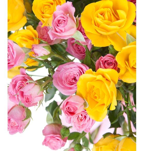 Bouquet of bush roses Paints – photo #3