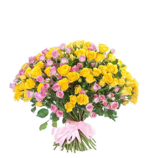 Bouquet of bush roses Paints – photo #2