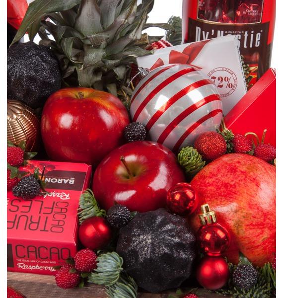 Подарочное кашпо Новогодняя эйфория (Красное вино в подарок) – фото № 3